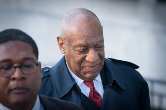 epa06694263 US entertainer Bill Cosby (R) arrives at the Montgomery County Courthouse in Norristown, Pennsylvania, USA, 26 April 2018, for the second day of jury deliberations in his retrial for charges stemming from an alleged sexual assault in 2004. Cosby has been charged with Aggravated Indecent Assault, which is a second degree felony, by the Pennsylvania prosecutor. EPA/TRACIE VAN AUKEN