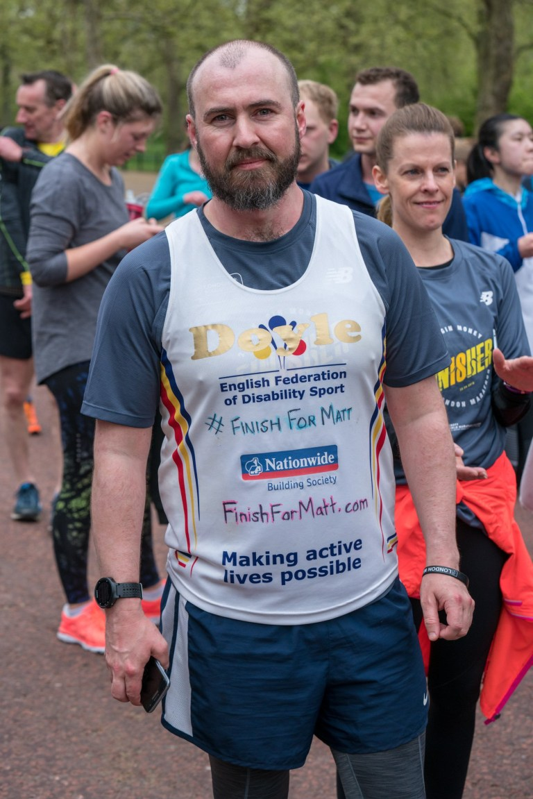 Runners gathered at Tower Hill to complete the marathon in memory of Matt Campbell.