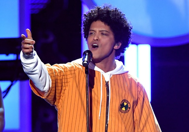 NEW YORK, NY - JANUARY 28: Recording artist Bruno Mars performs onstage during the 60th Annual GRAMMY Awards at Madison Square Garden on January 28, 2018 in New York City. (Photo by Kevin Winter/Getty Images for NARAS)