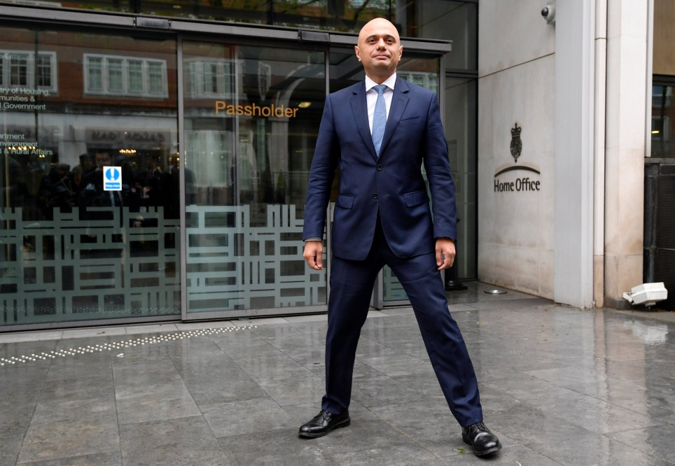 Sajid Javid stands outside the Home Office after being named as Britain's Home Secretary, in London, April 30, 2018. REUTERS/Toby Melville