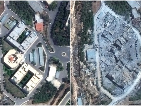 This is what missile attack did to Syria's chemical weapons programme