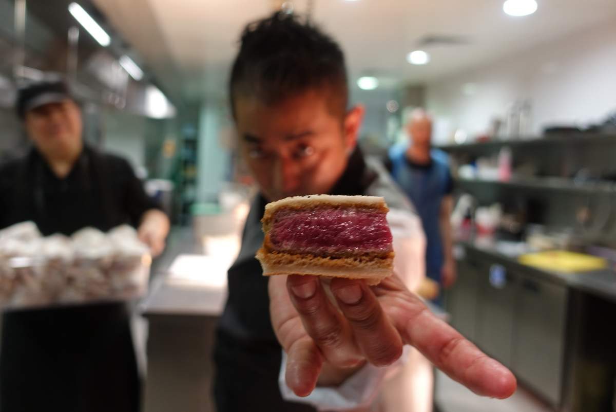 Here's what it's like to eat the obscenely expensive Kobe beef Cutlet Sandwich from Wagyumafia