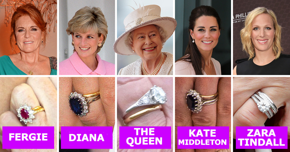 f99dc9c93 Royal engagement ring and wedding ring values compared – Kate Middleton, The  Queen, Meghan Markle, Diana, Camilla's and more