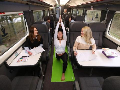 Chiltern Railways launches train yoga classes to combat 'phone zombies'