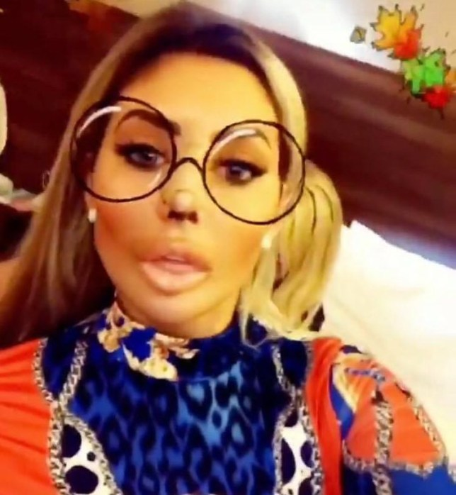 Chloe Ferry showed off her bandaged nose (Picture: Instagram)