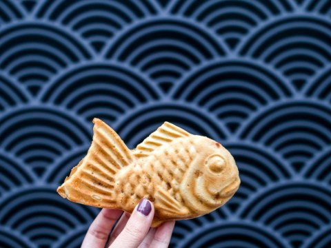 This Japanese dessert is shaped like a fish and has a delicious surprise inside