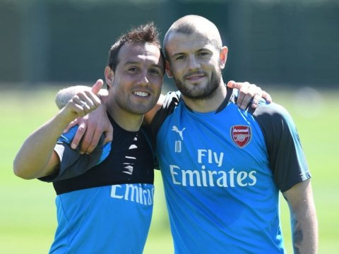 Santi Cazorla pictured back in full Arsenal training for first time in 19 months