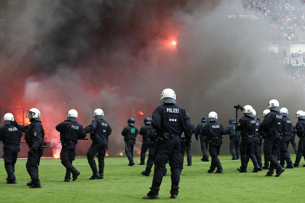 Astonishing fan chaos as Hamburg suffer first Bundesliga relegation in 55 years