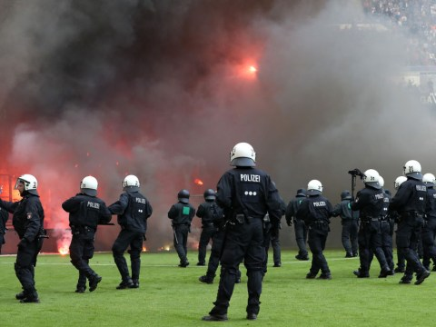 Astonishing fan chaos as Hamburg suffer first Bundesliga relegation in 55 years
