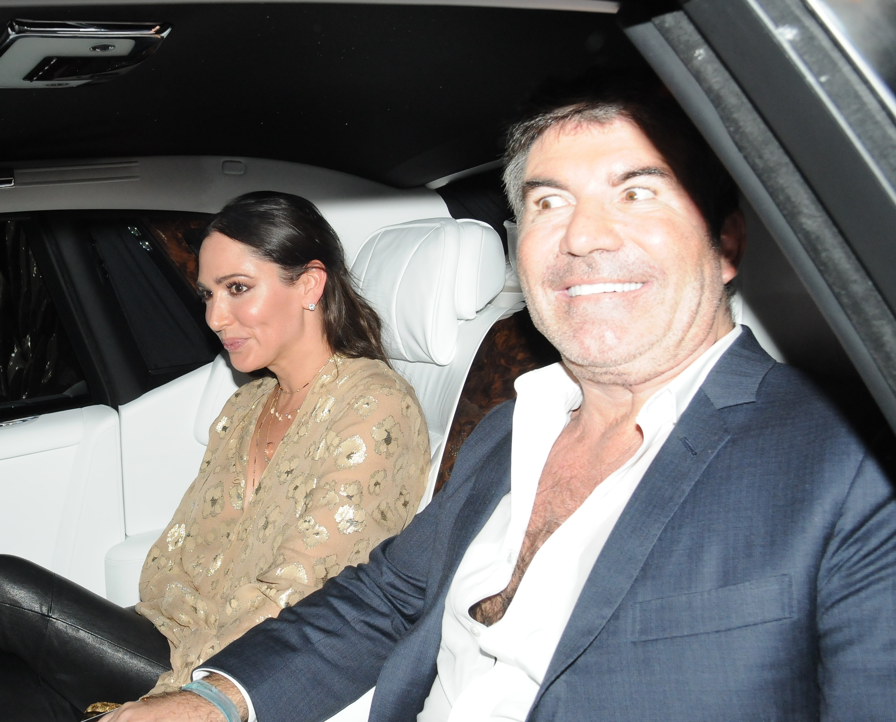 Simon Cowell looks seriously uncomfortable when asked about Lauren Silverman proposal plans