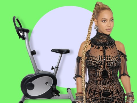 Beyonce proves spin classes are the ultimate health hazard as 'her long braids get caught in bike wheel'