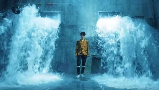 BTS Fake Love waterfall scene