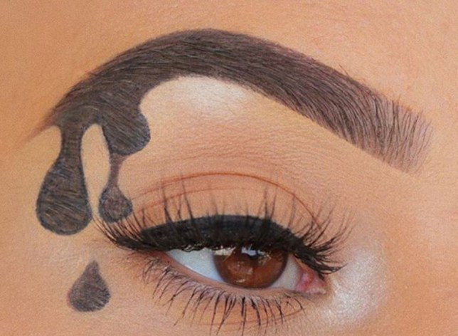 dripping brows beauty trend