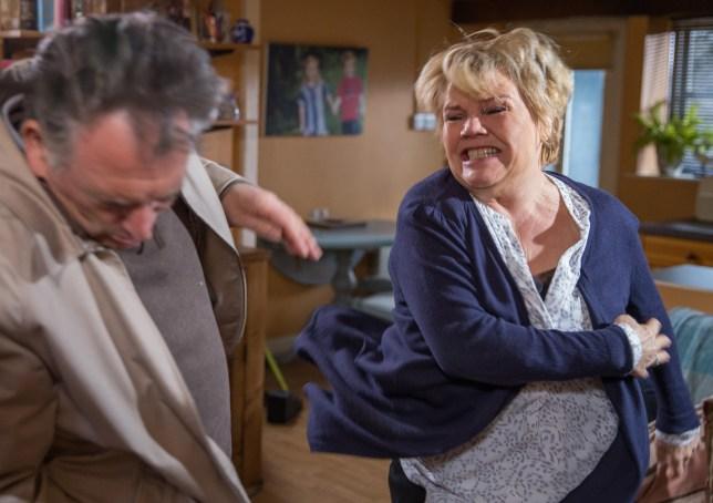 Brenda hits Bob in Emmerdale