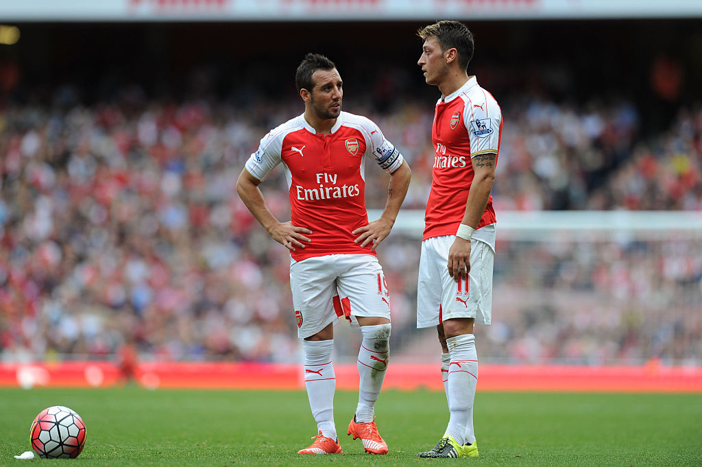 Mesut Ozil 'sad to see' Santi Cazorla leave Arsenal