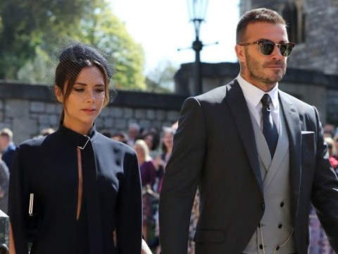 Victoria Beckham becomes the royal wedding's first meme as she fails to crack a smile