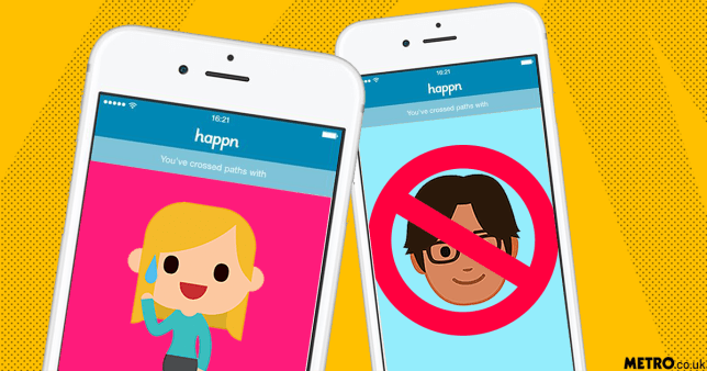 Happn adds invisible mode so you don't match with your boss picture; HAPPN/Getty