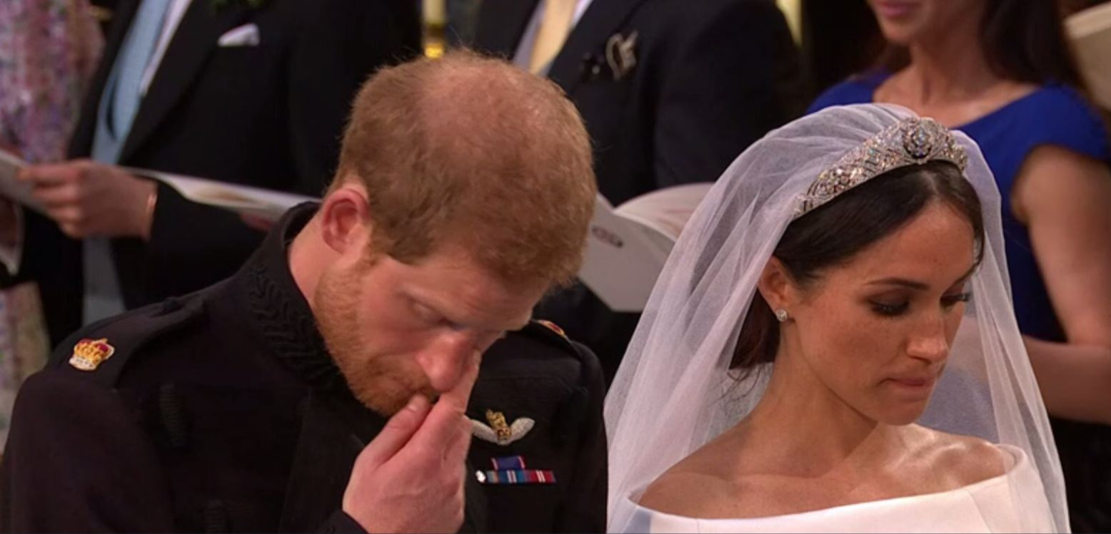 Prince Harry's emotional moment at the end of Diana's favourite hymn