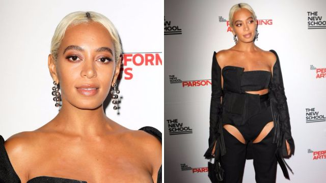 All hail fashion royalty Solange as she manages to look good wearing a utility belt on red carpet