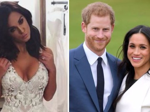 Vicky Pattison dons a wedding dress as she congratulates Meghan and Harry – as you do