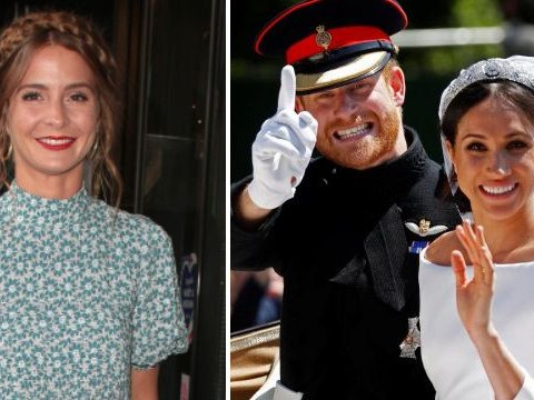 Millie Mackintosh ignores Meghan Markle snub as she dresses dog in tiara to watch Royal Wedding at home