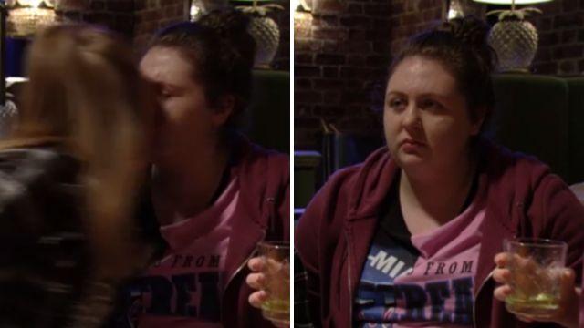 Bernie kisses Tiffany in EastEnders