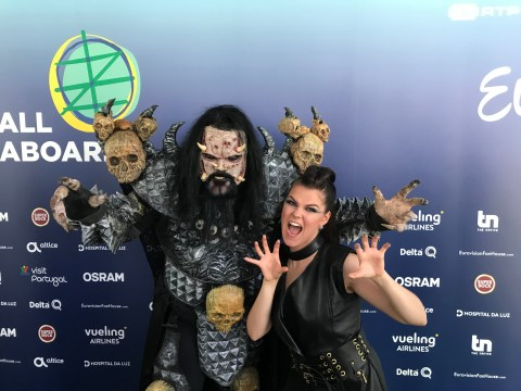 Saara Aalto gets a Monster surprise from Finland before the Eurovision Song Contest final