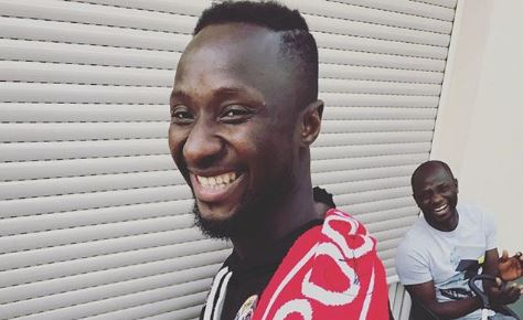 Naby Keita pictured wearing Liverpool scarf ahead of official transfer