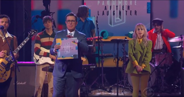 Paramore performed Rose-Coloured Boy on The Late Show With Stephen Colbert (Picture: Youtube)