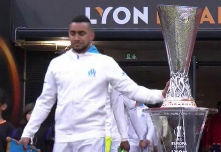Liverpool fans tell players to keep hands off Champions League trophy after Dimitri Payet 'jinxes' Marseille