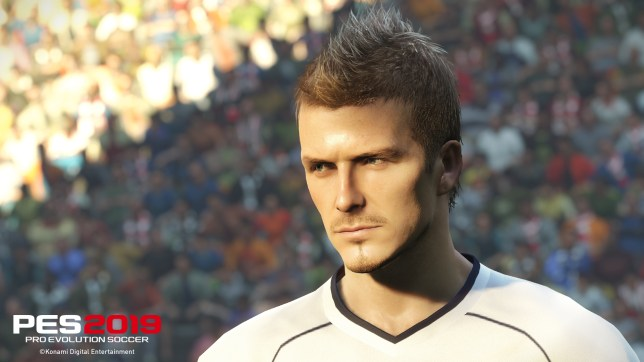 PES 2019 - yep, that's David Beckham all right