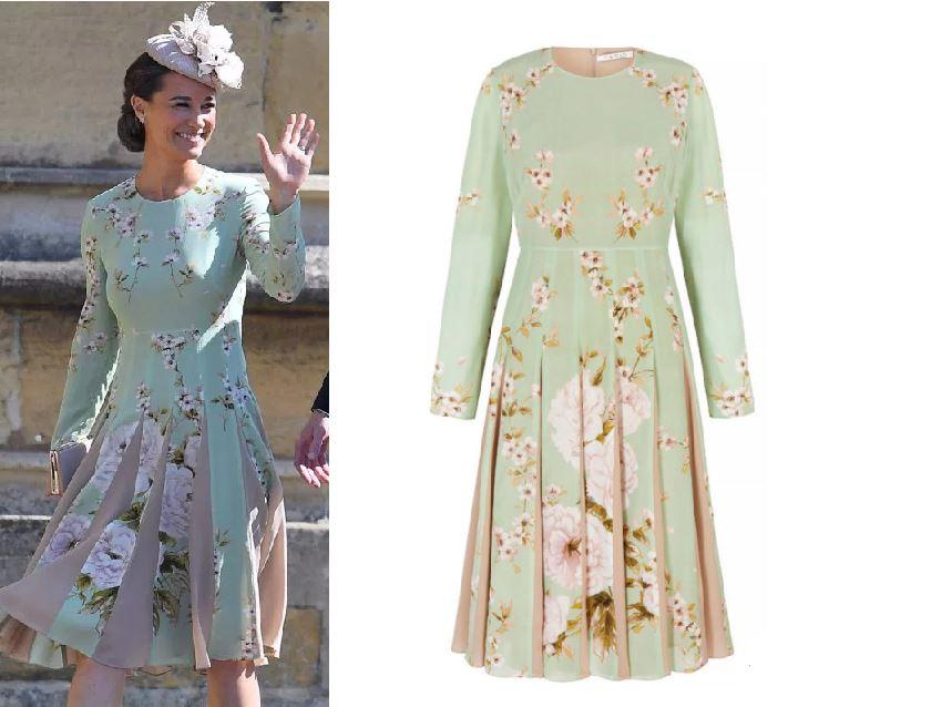 Pippa Middleton wears £500 dress by British designer The Fold dress to the Royal Wedding