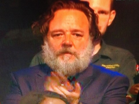 Yes you did see Russell Crowe in the audience at Britain's Got Talent live semi-final