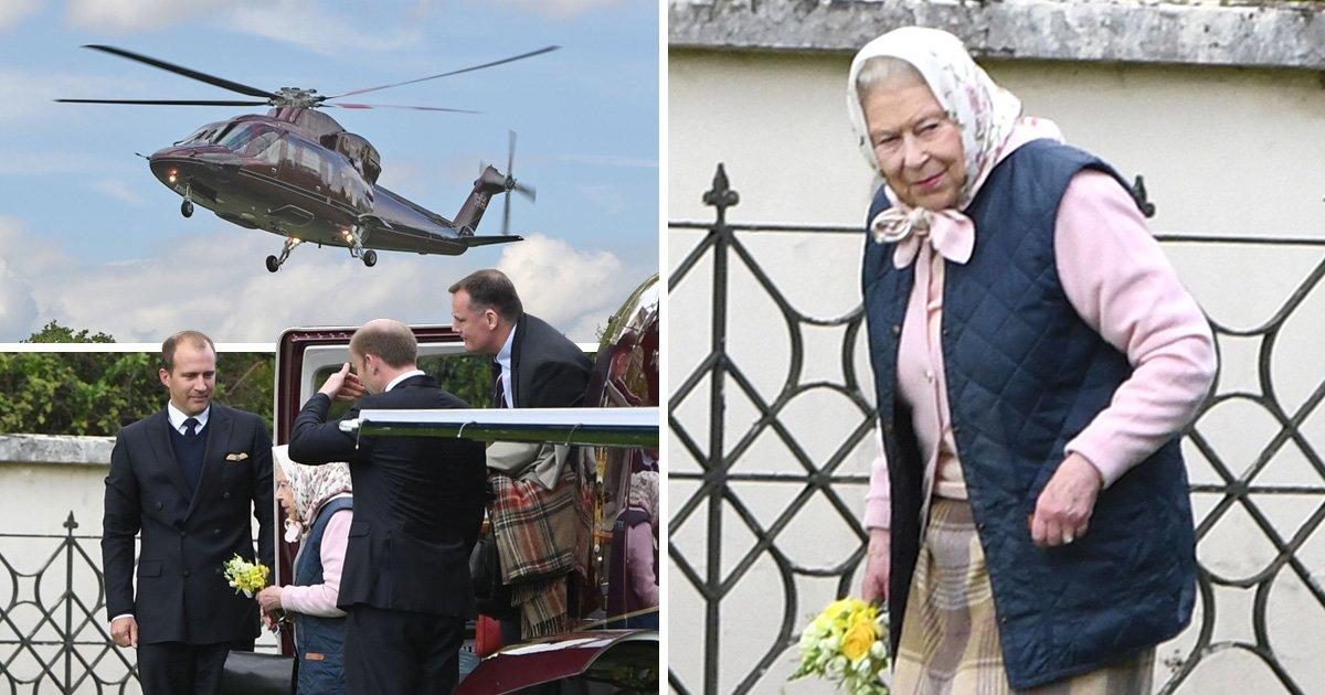 Queen avoids traffic taking helicopter for 18-mile ride to meet Prince Louis