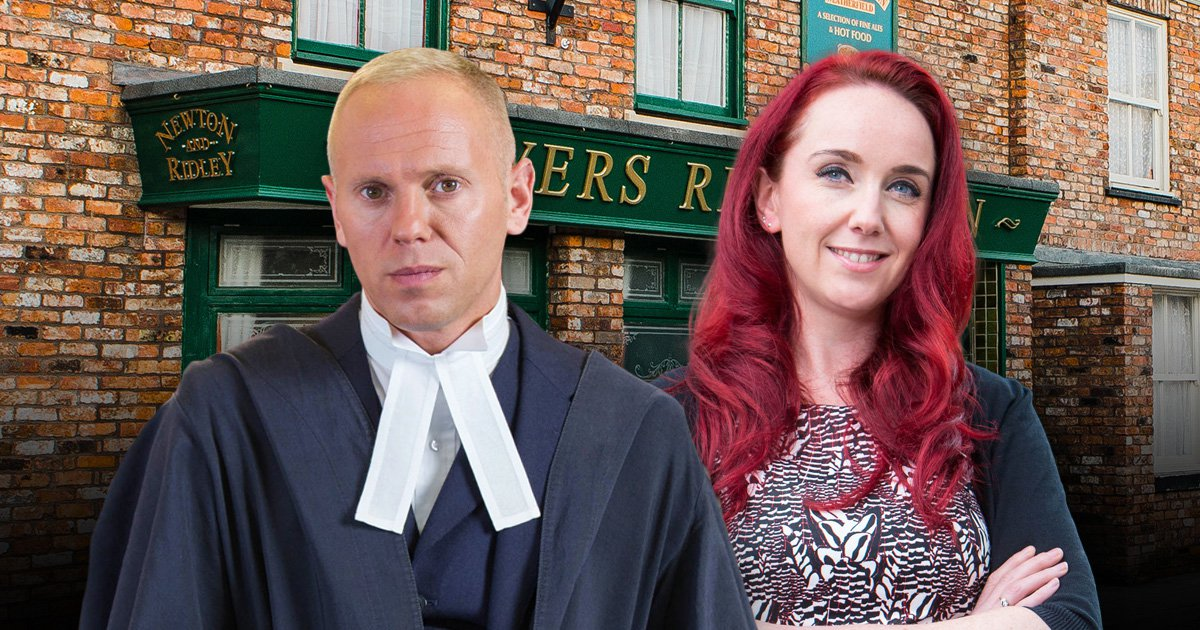 Judge Rinder and Kate Oates Coronation Street