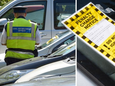 Traffic wardens hand parking tickets to 23 cars in a row