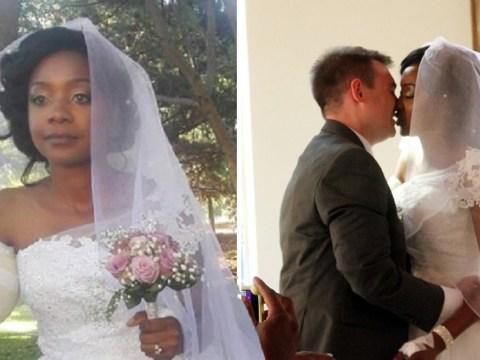 Bride goes ahead with wedding despite having arm bitten off by crocodile days earlier