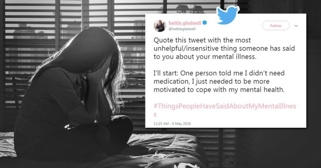 People on Twitter are opening up about the worst things people have said about their mental illness