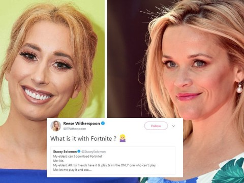 Stacey Solomon and Reese Witherspoon become fast Fortnite friends as mums discuss obsession