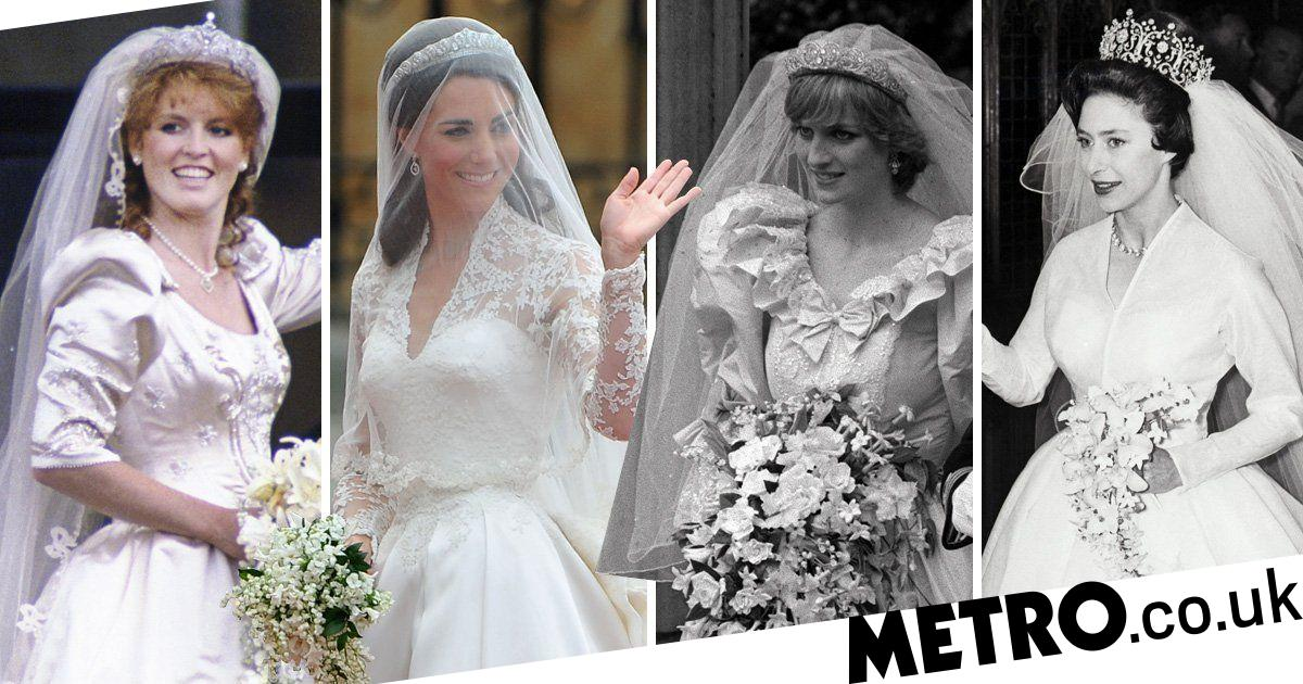 Royal Wedding Dresses Queen Kate Middleton Diana And More