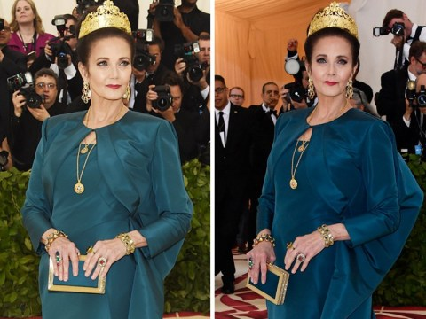 Original Wonder Woman Lynda Carter slays the Met Gala in dress that appears to change colour
