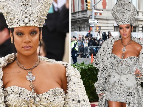 Introducing Pope Rihanna, who took the Met Gala theme and ran with it