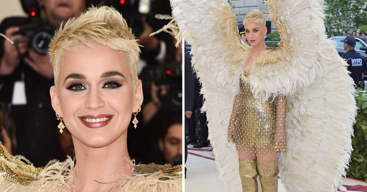 Katy Perry tries to one up Rihanna at Met Gala as she arrives dressed as an angel