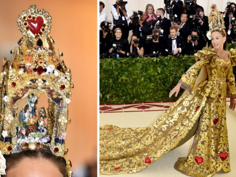 Sarah Jessica Parker wears actual nativity scene on her head in another extra Met Gala look
