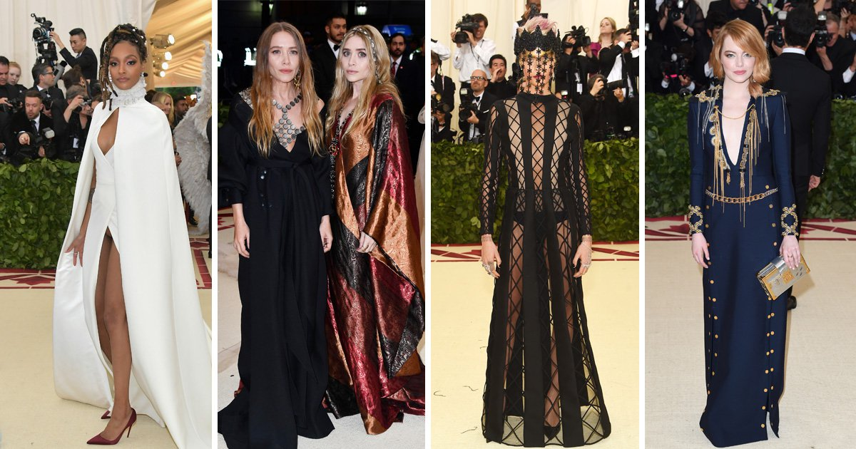 What Jourdan Dunn, Mary Kate Olsen, Cara Delevigne and Emma Stone wore to the Met Gala 2018