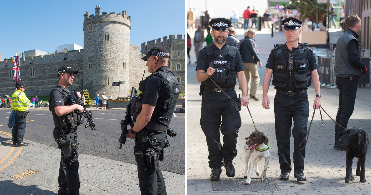 Major police operation unveiled to protect Harry and Meghan for royal wedding