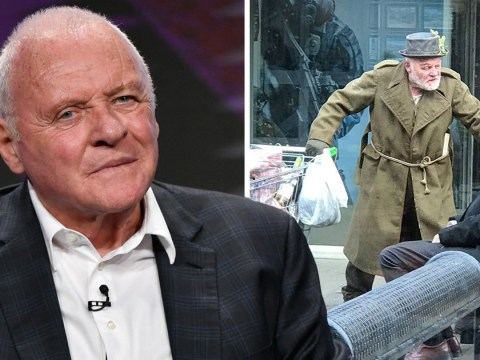Anthony Hopkins 'mistaken for a homeless man' while on King Lear set