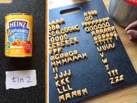Man finds answer to Alphabetti spaghetti question we've all been asking