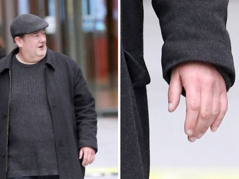 Johnny Vegas looks upbeat and sans wedding ring before confirming split with wife of 7 years