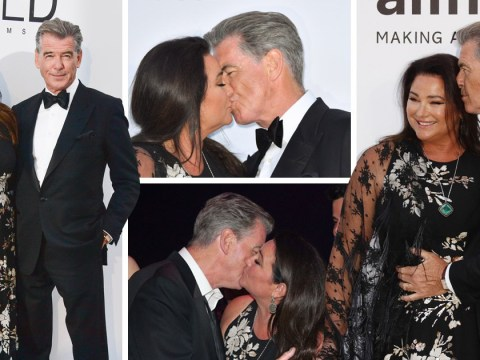 Pierce Brosnan's amorous display with wife of 17 years is real reason the Cannes carpet is red